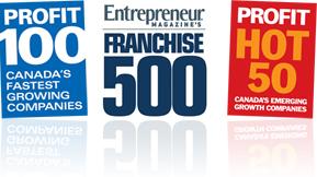 Profit 100 Canada's Fastest Growing Companies, Entrepreneur Magazine's Franchise 500, Profit Hot 50 Canada's Emerging Growth Companies